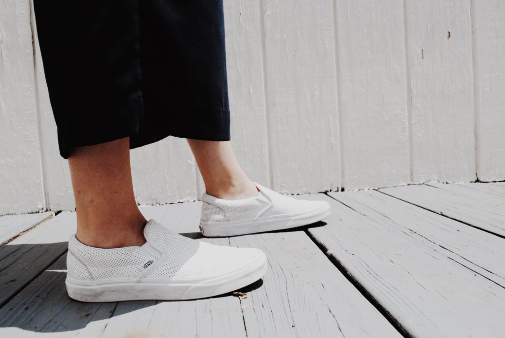 Vans with cropped culottes
