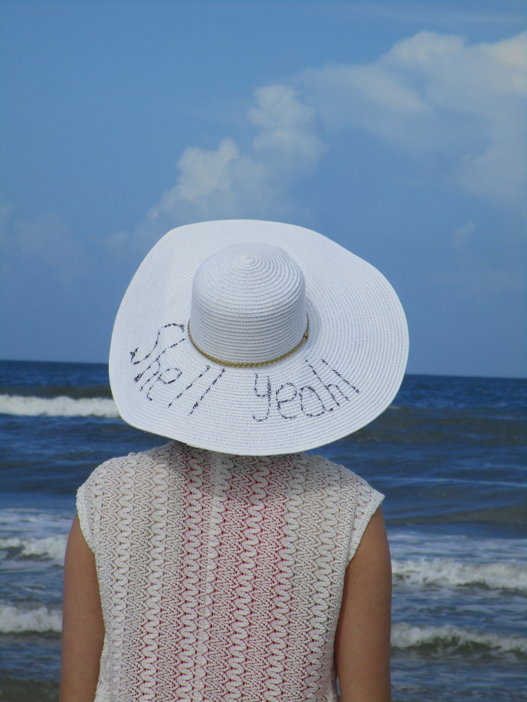 How to DIY Your Own Embroidered Beach Hat