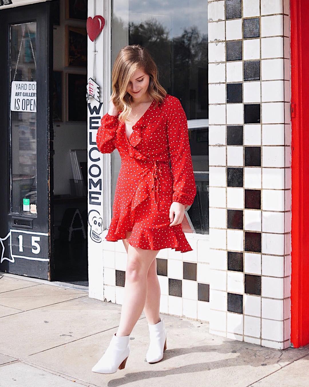 Ruffled Wrap Dress for Spring Formal
