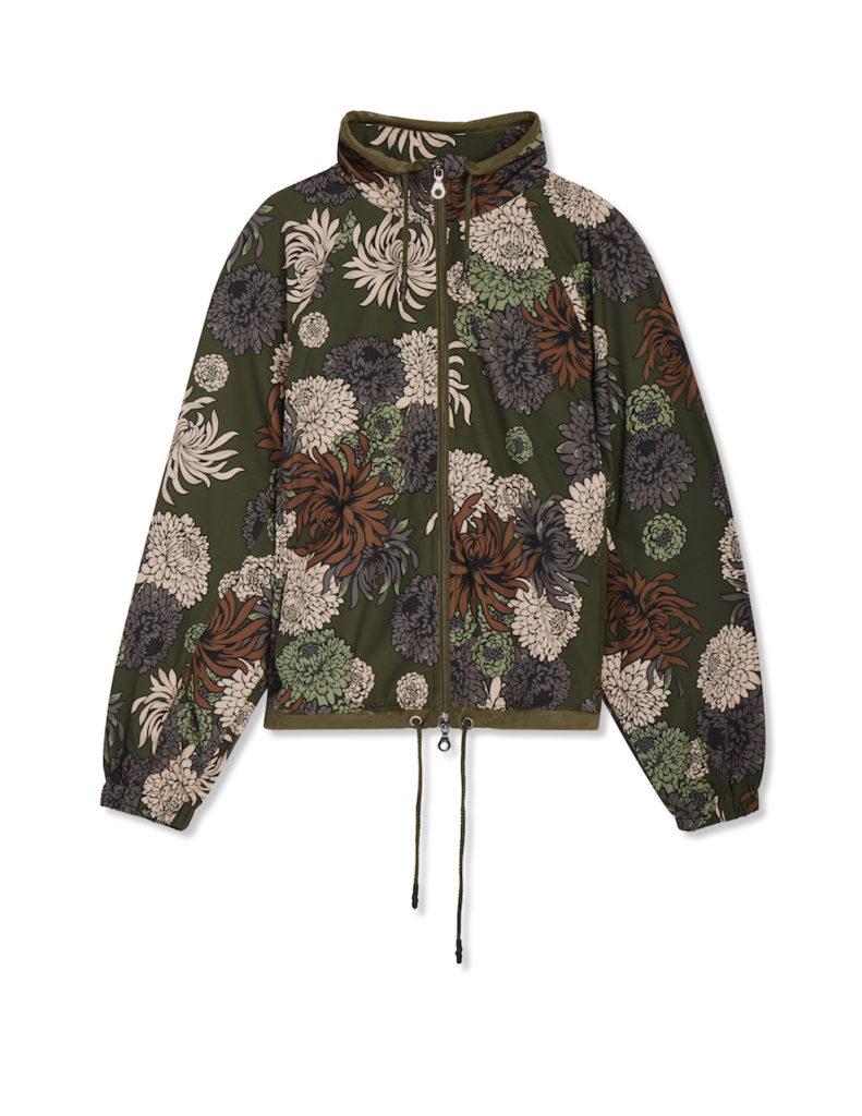 JoyLab Chrysanthemum Floral Print Boxy Raglan Jacket ($35)