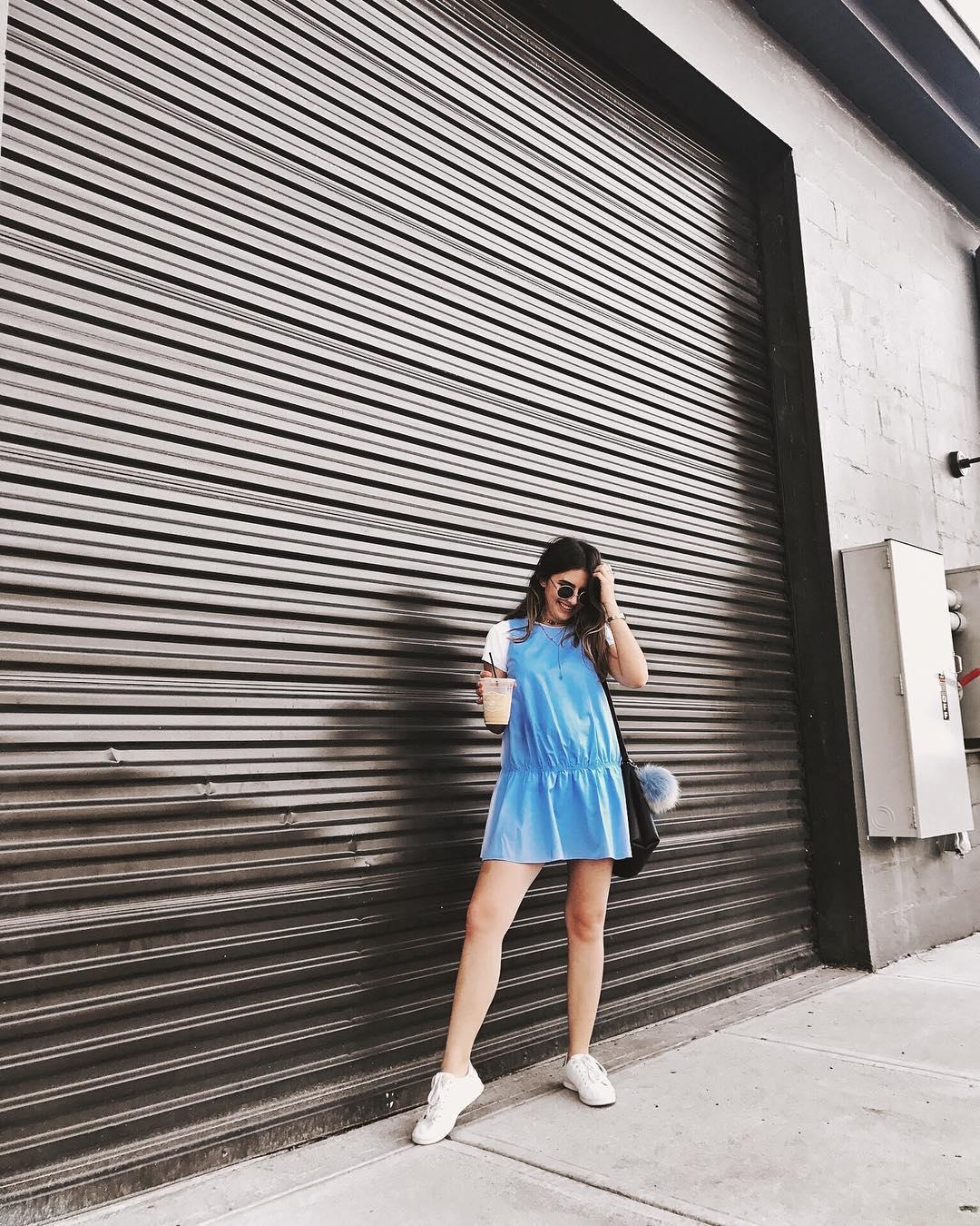 Summery blue dress