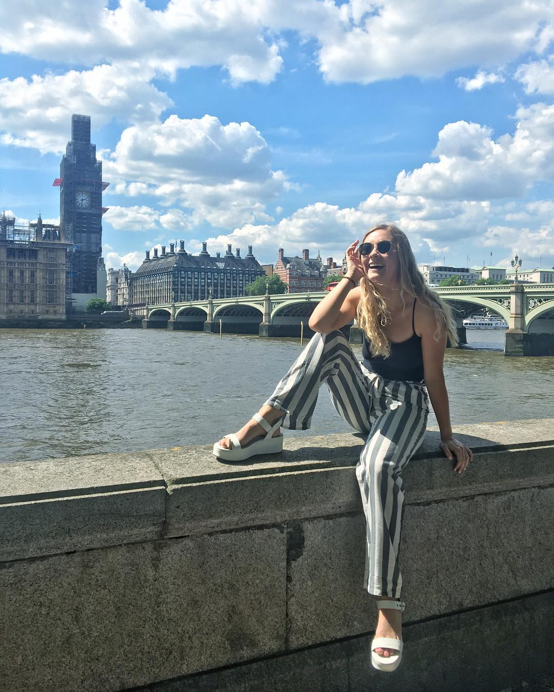 London Study Abroad Striped Outfit